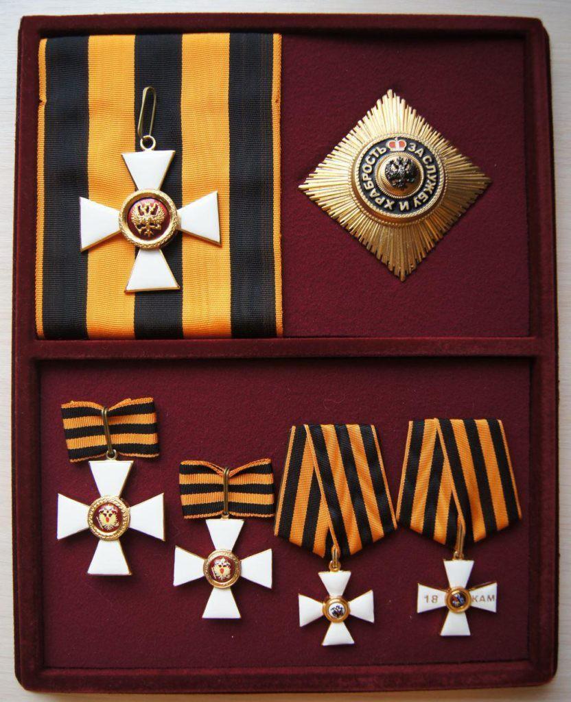 степени ордена святого георгия